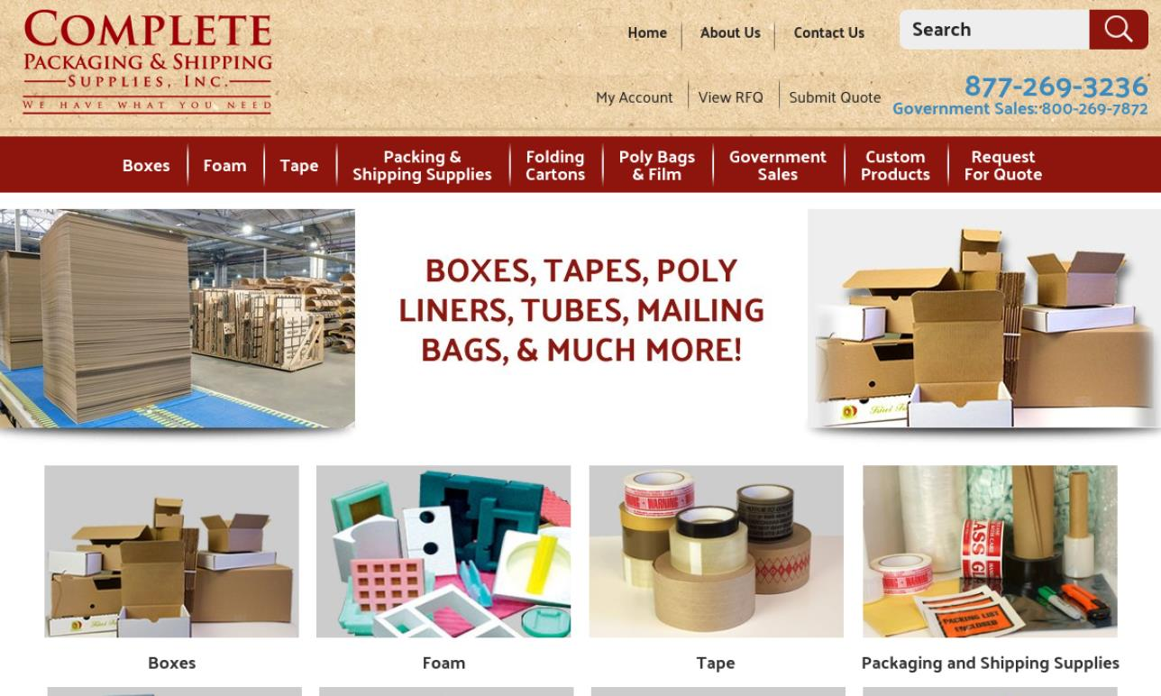 Complete Packaging & Shipping Supplies