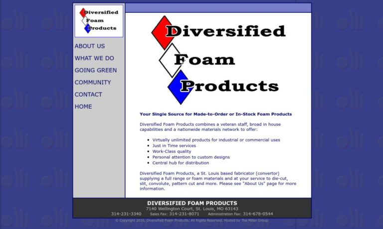Diversified Foam Products