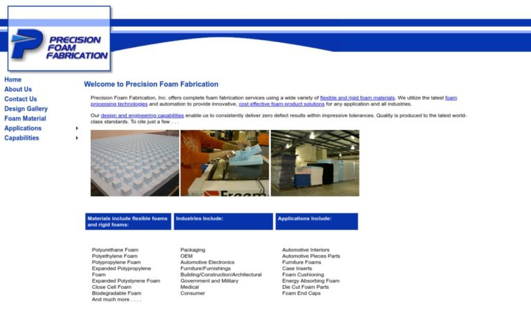 Precision Foam Fabrication